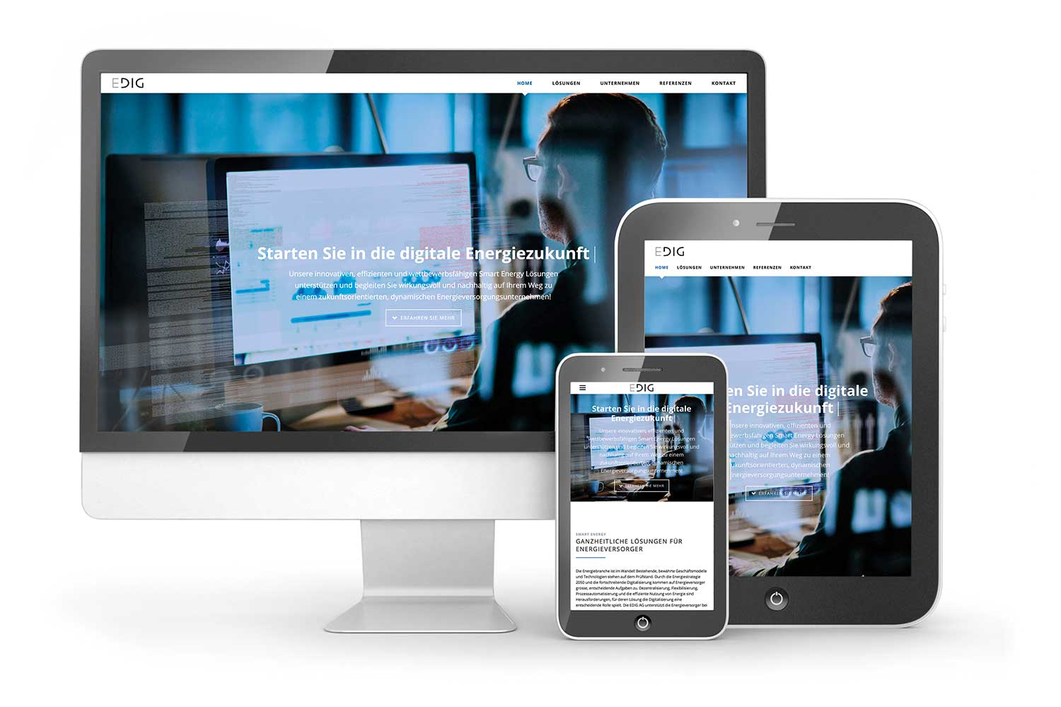 Edig, Website responsive