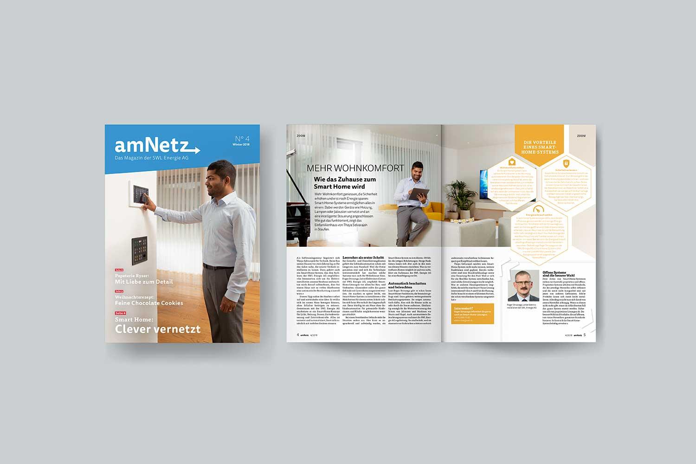 Energiemagazine, Am Netz