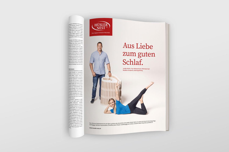 Hüsler Nest, Kampagne Kaselin / Sempach, Inserat