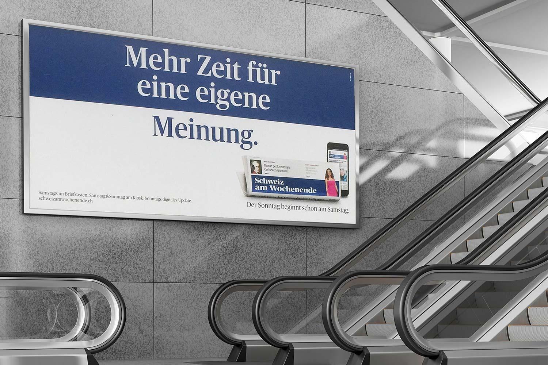 Schweiz am Wochenende, Plakat F12, eigene Meinung