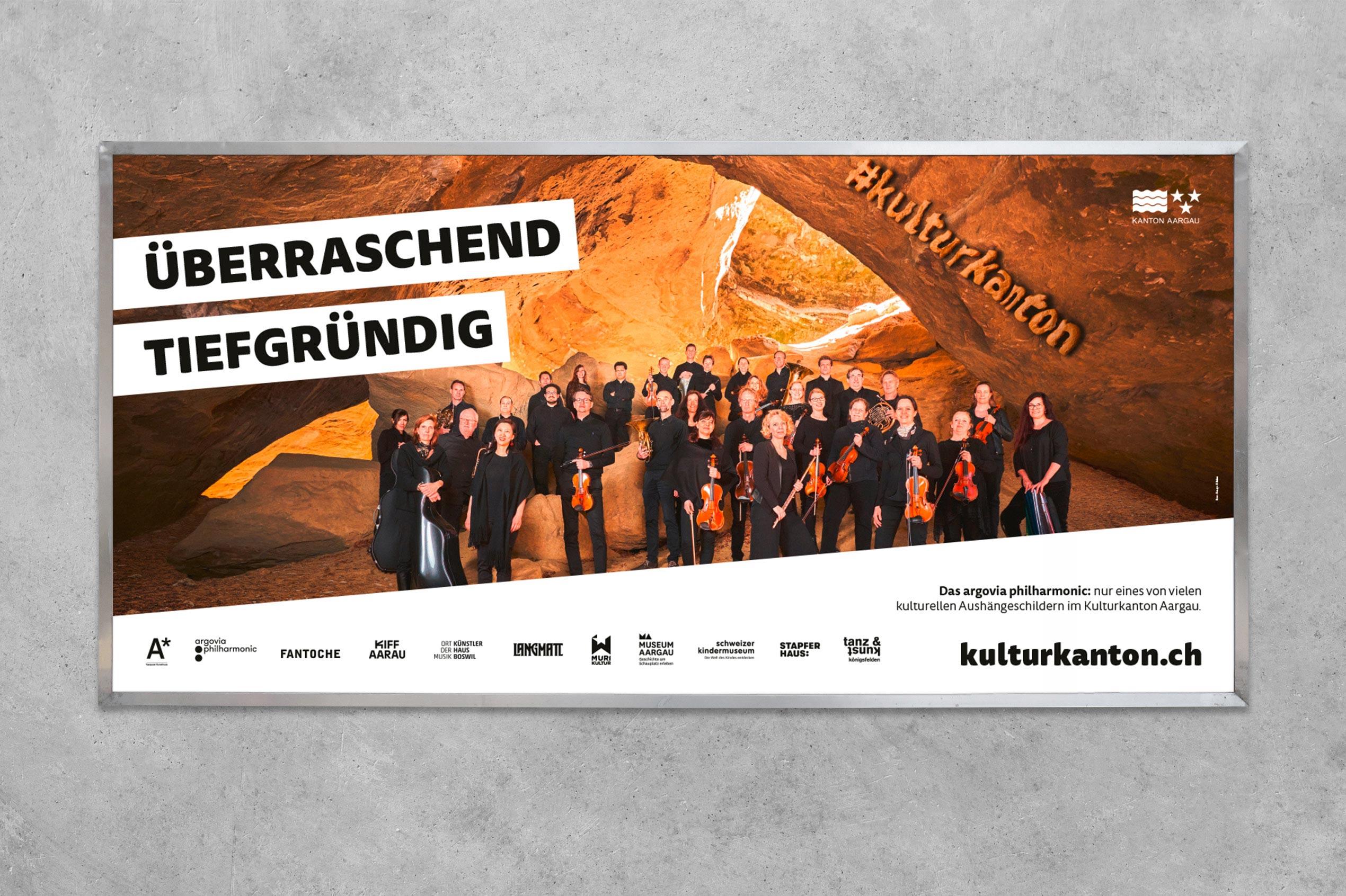 Kulturkanton, Plakat F12, Argovia Philharmonic