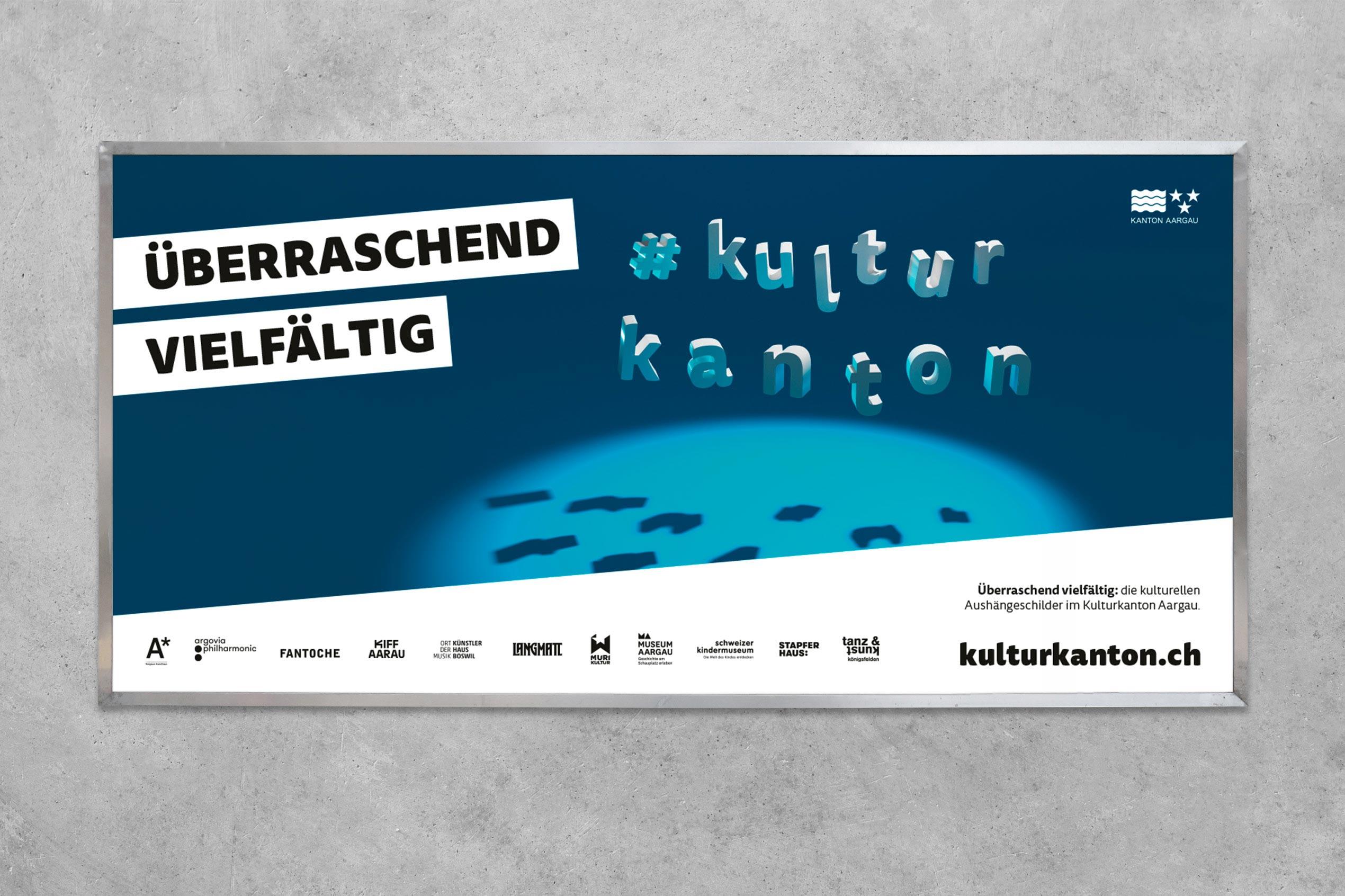 Kulturkanton, Plakat F12, Overall-Sujet