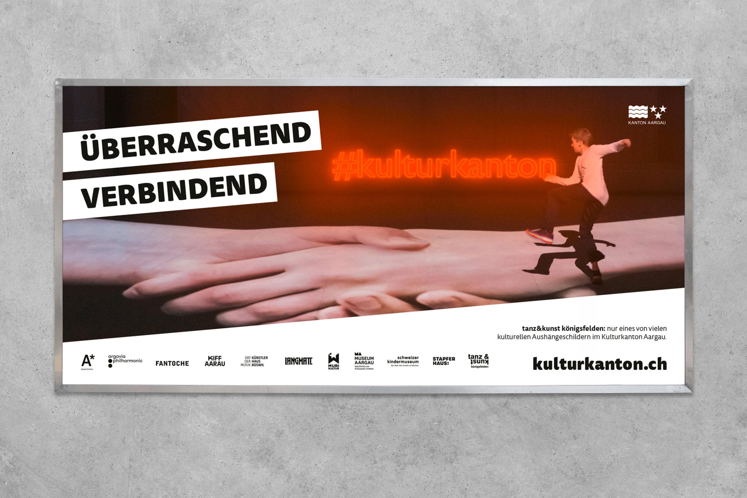 Kulturkanton, Plakat F12, Tanz & Kunst Kögigsfelden