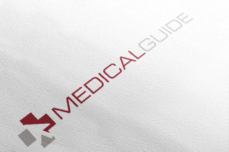 Schriftzug von Medical Guide auf rauem weissen Hintergrund
