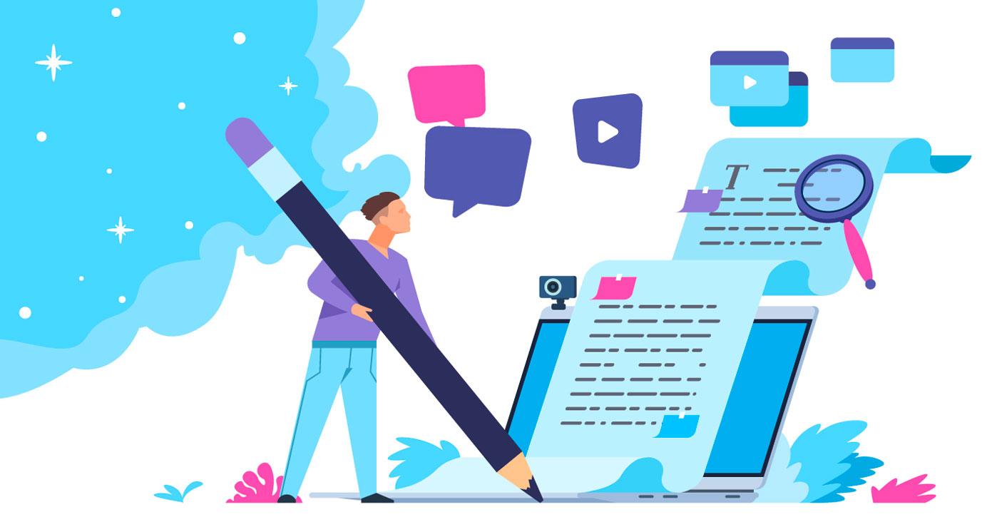 Illustriertes Sinnbild für den Blogbeitrag zum Thema Content-Strategie