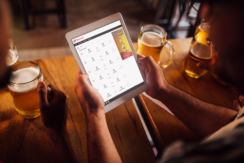 Müller Bräu Fussball-Marketing-Tools, Mockup Tablet